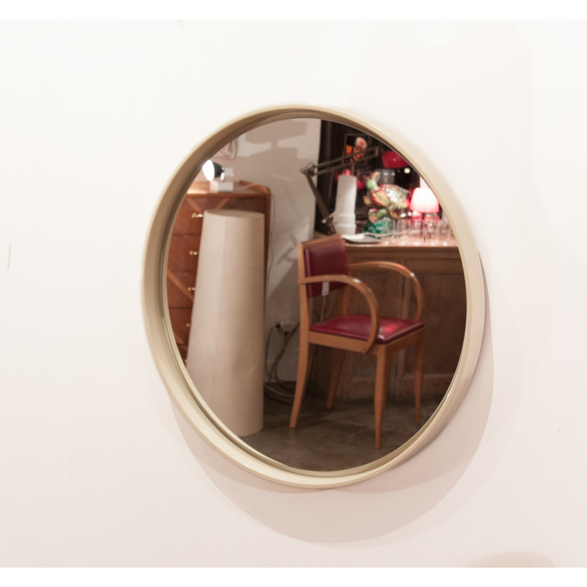 Grand miroir rond et vintage for Miroir rond grand