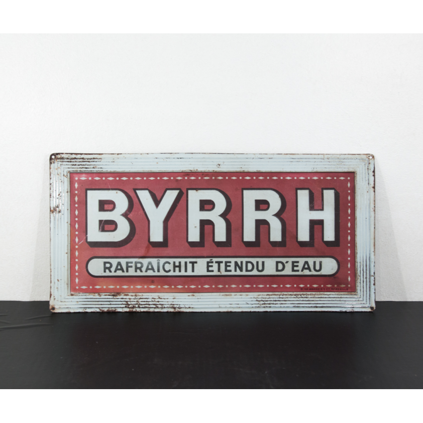 plaque publicitaire ancienne byrrh. Black Bedroom Furniture Sets. Home Design Ideas