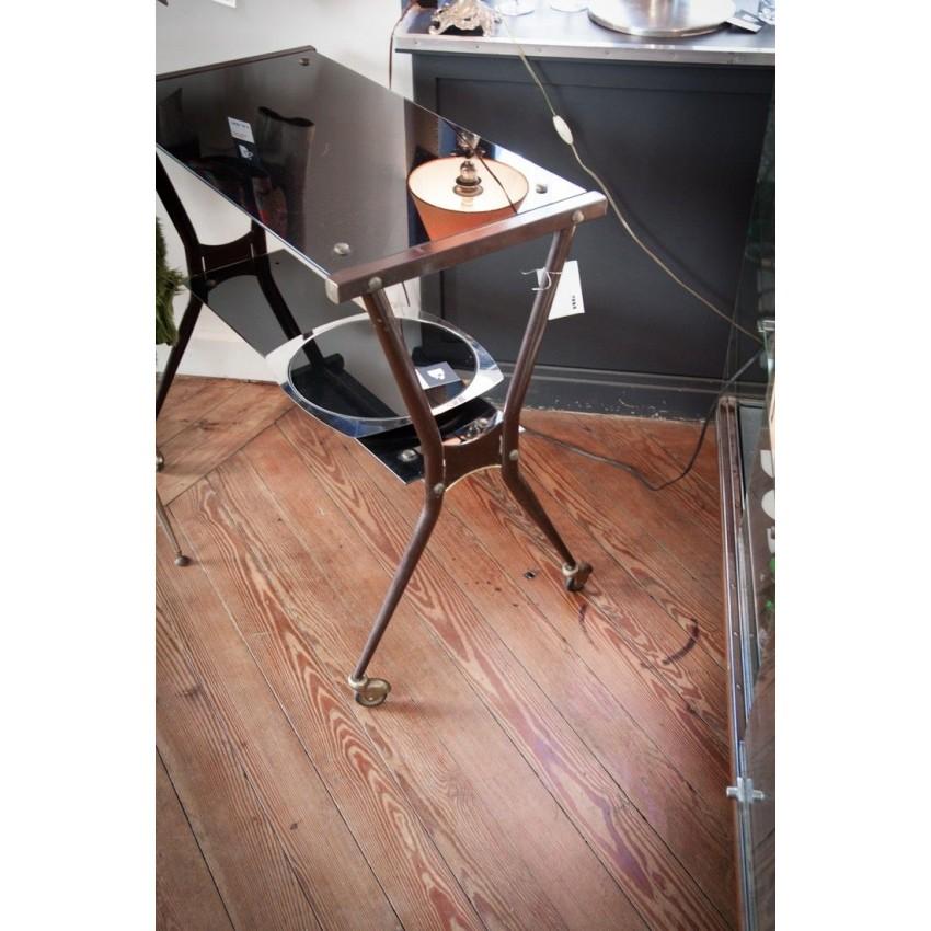 desserte vintage roulettes. Black Bedroom Furniture Sets. Home Design Ideas