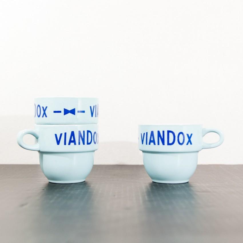 Tasses Viandox bleues vintage