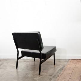 Chauffeuse vintage skaï noir - Thonet