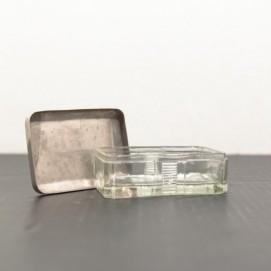 Boite à bijoux vintage en verre
