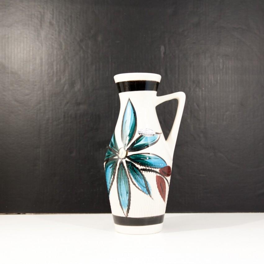 Céramique allemande - Vase vintage - Bay Keramik 271-25 - Fleurs