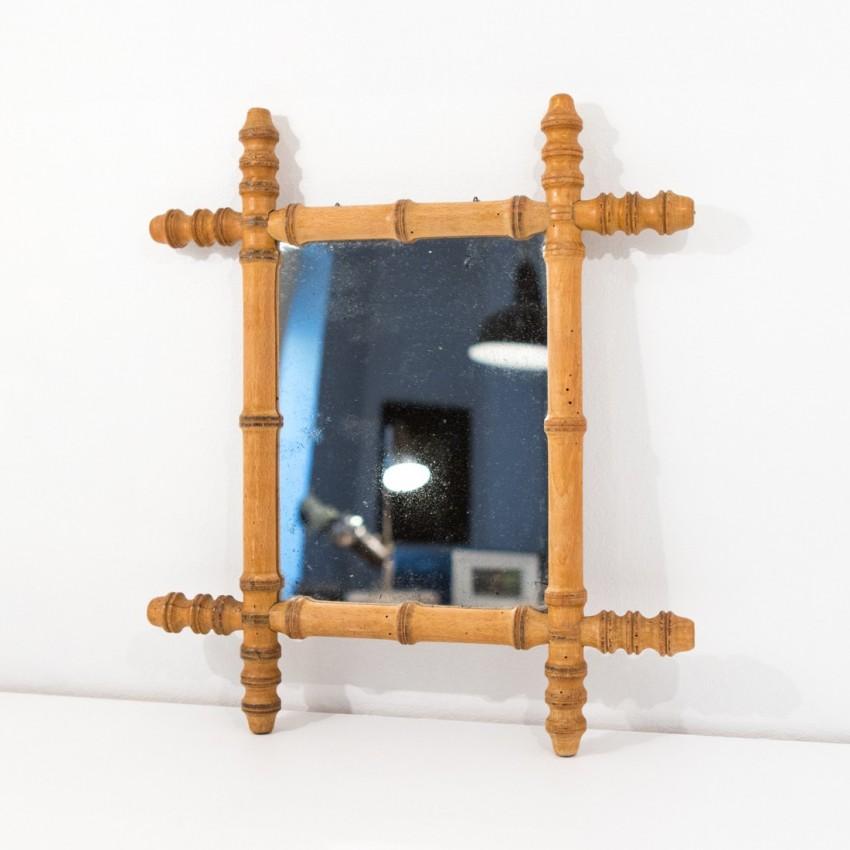 miroir de barbier bambou. Black Bedroom Furniture Sets. Home Design Ideas
