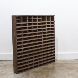 Casse d'imprimerie en bois
