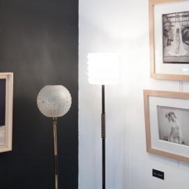 Lampadaire vintage en fer et laiton