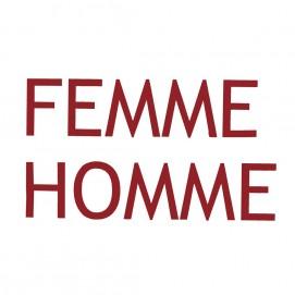 Lettres d'enseigne en métal Homme, Femme