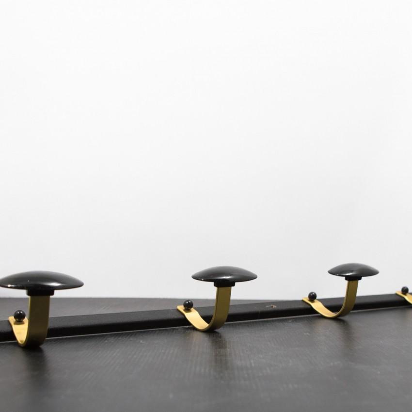 Patères en métal noir/doré