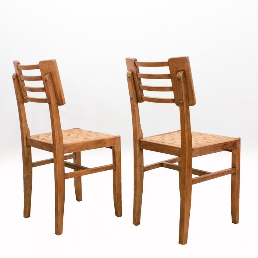 Chaises en bois des années 1940