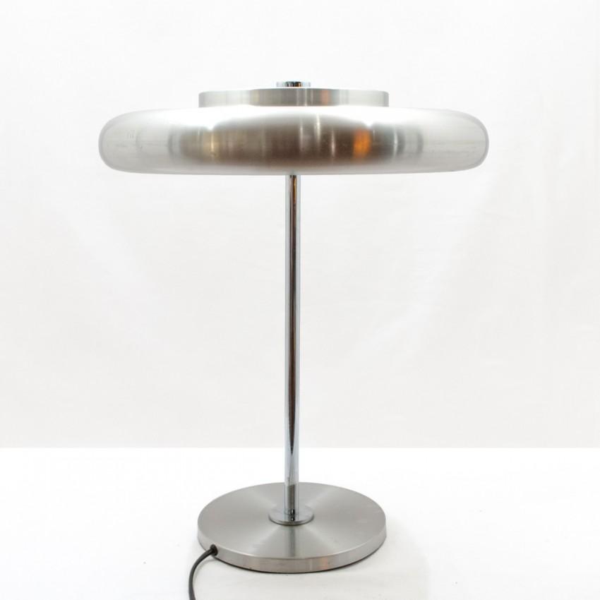 Lampe de bureau des années 1970 en inox