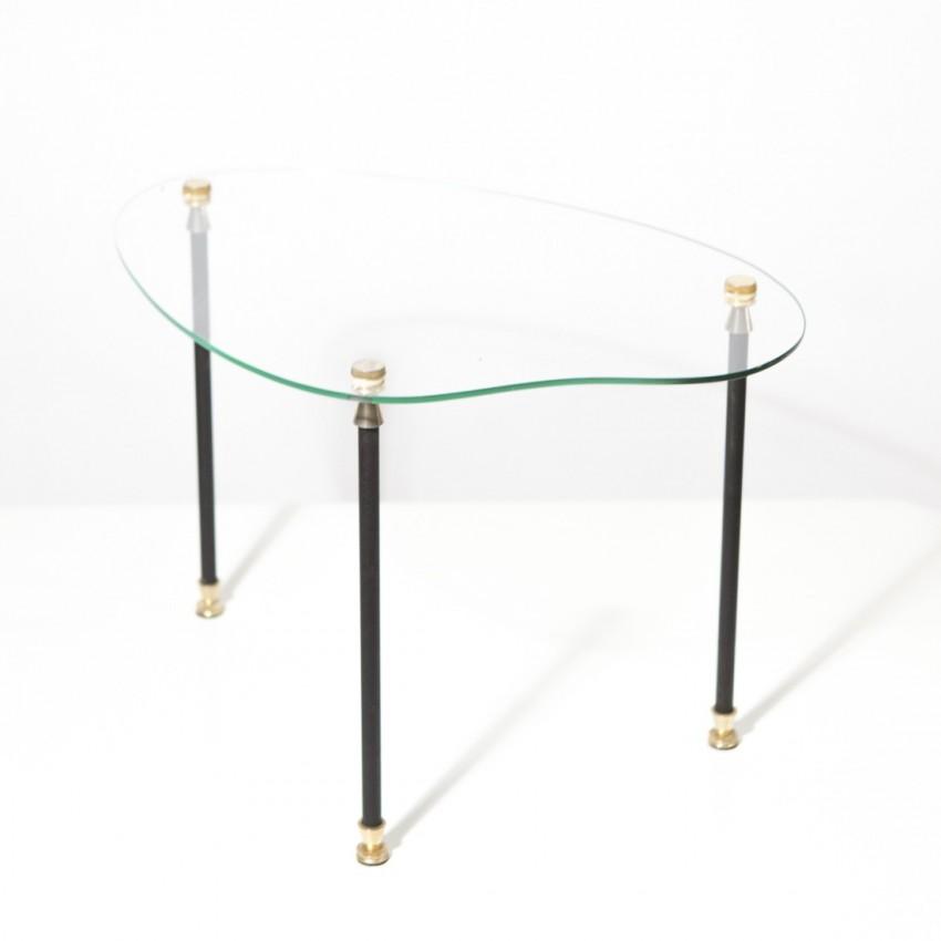 Table basse palette de peintre des années 1950