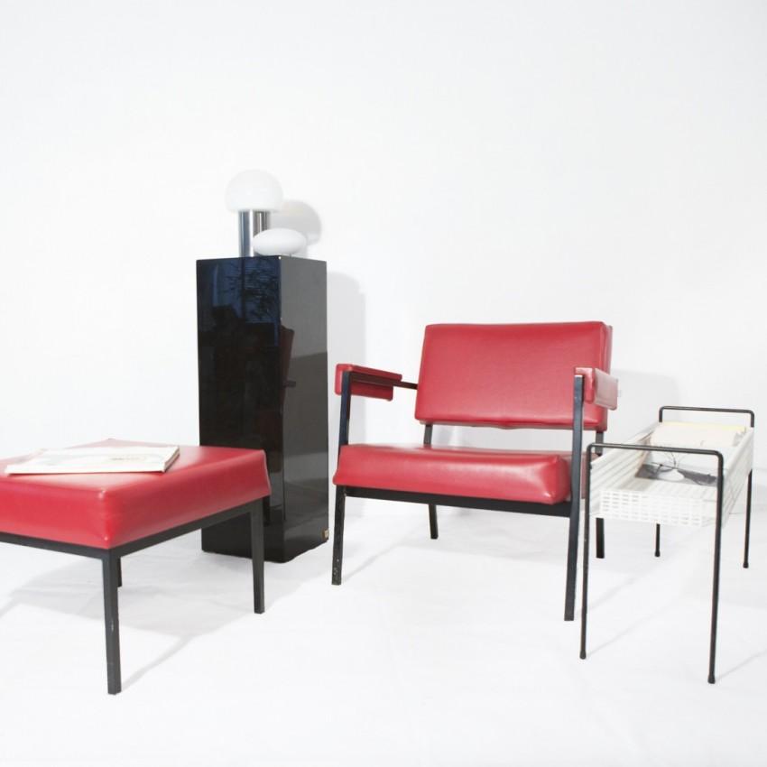 Présentoir laqué noir de Jean Claude Mahey