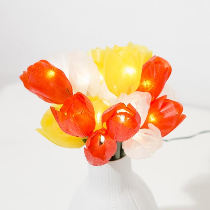 Bouquet de tulipes lumineuses vintage