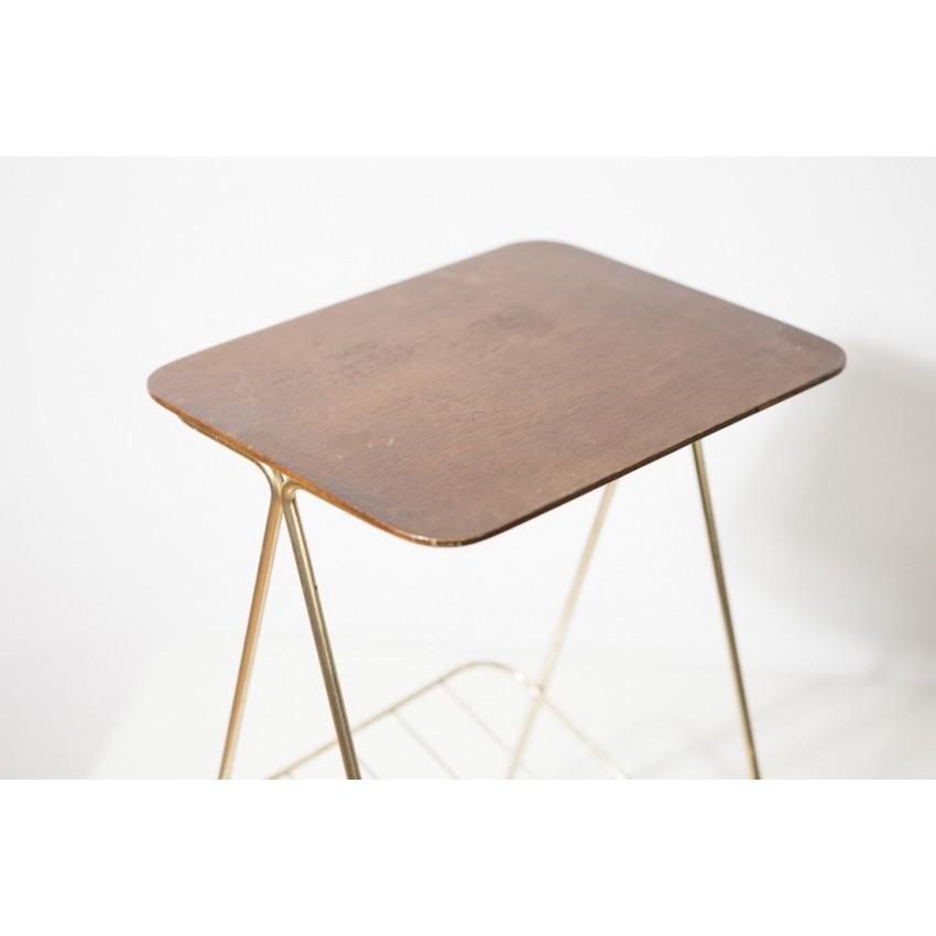 Bout de canapé en métal doré