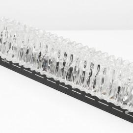 Grande applique en verre et métal