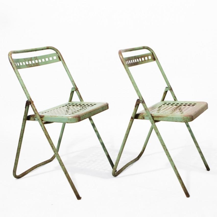 Chaises de jardin public de la ville de Toulouse