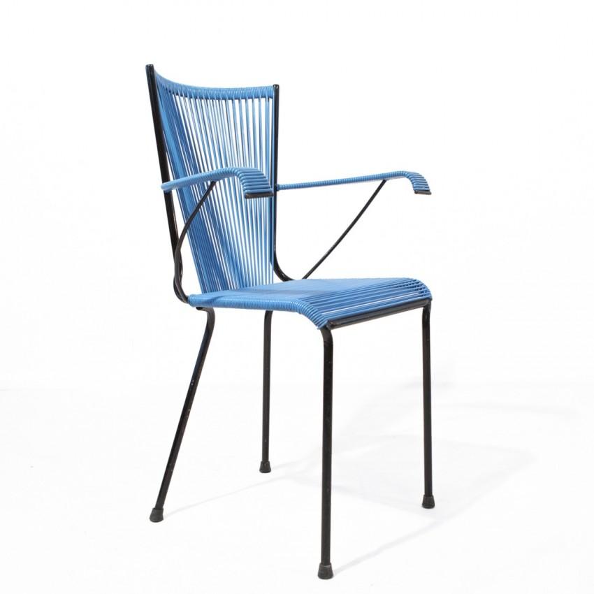 Fauteuil Scoubidou noir et bleu - Lunik