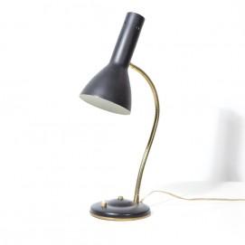 Lampe de bureau noire des années 1960