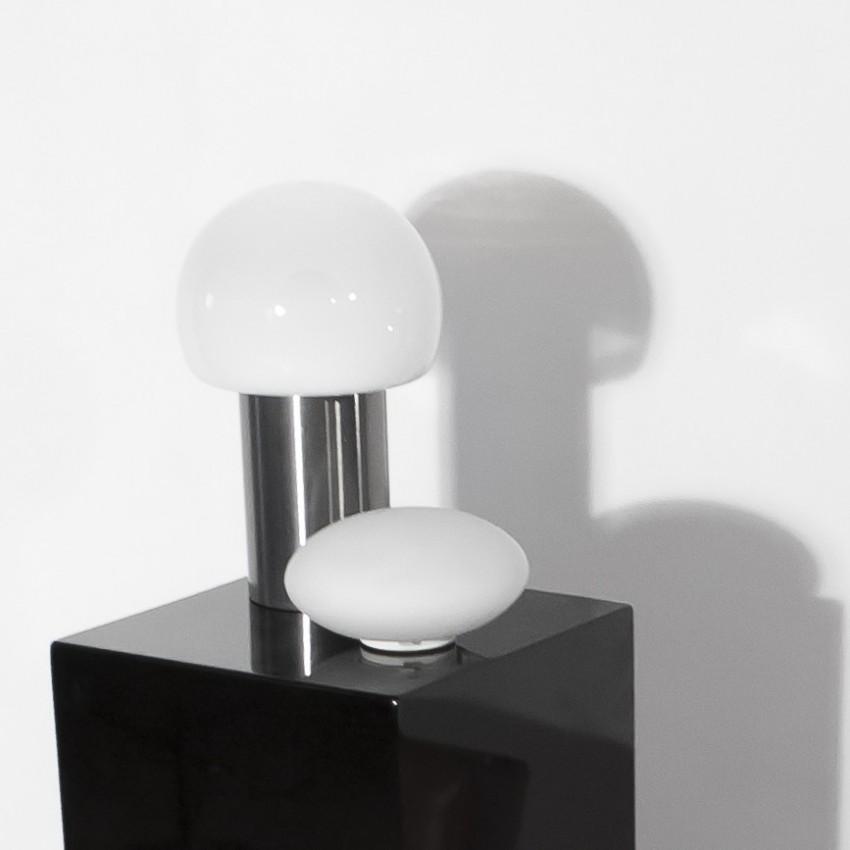 Lampe d'appoint inox et verre