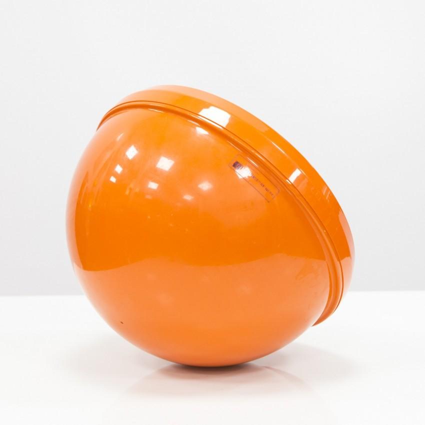 Miroir culbuto hémisphérique orange