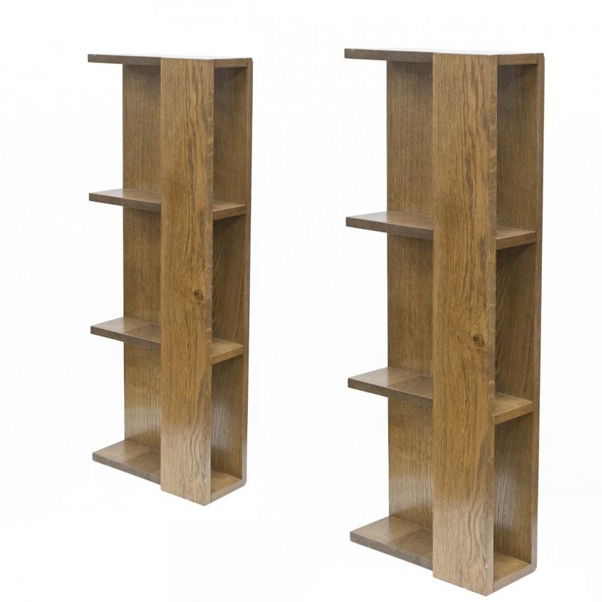 Paire de bibliothèques en bois