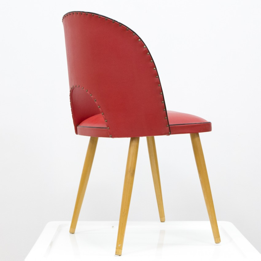 Chaise cocktail rouge