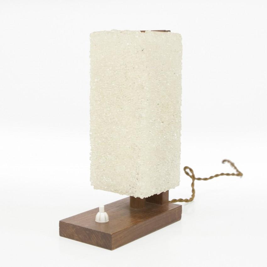Lampe d'appoint vintage en bois et Perspex