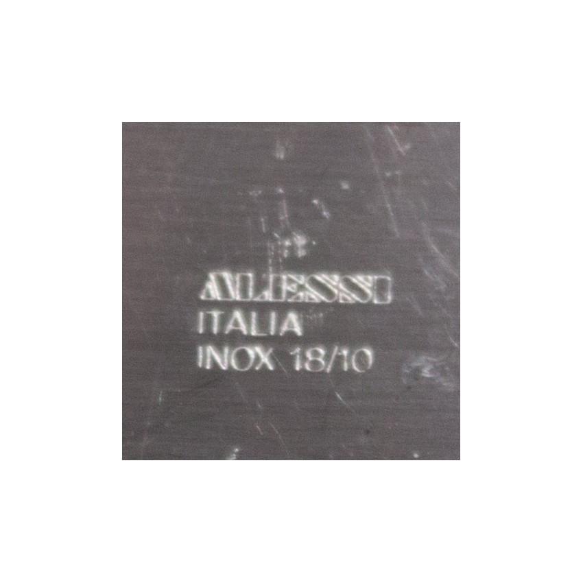 Plat de présentation en inox - Alessi vintage