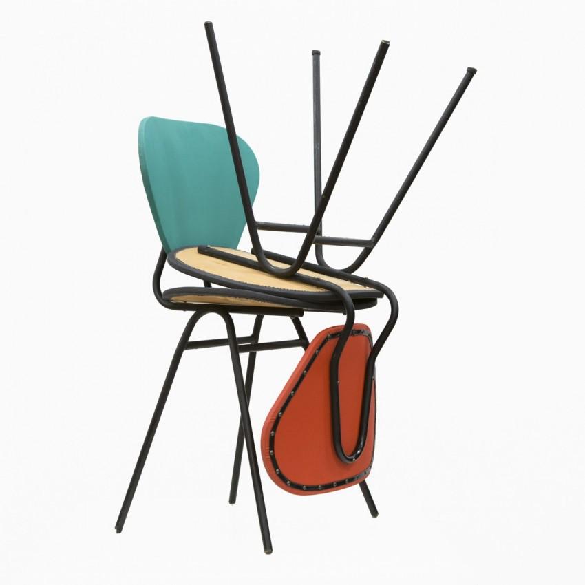 Chaise en tubes et tissu plastique - Galerie Barbès