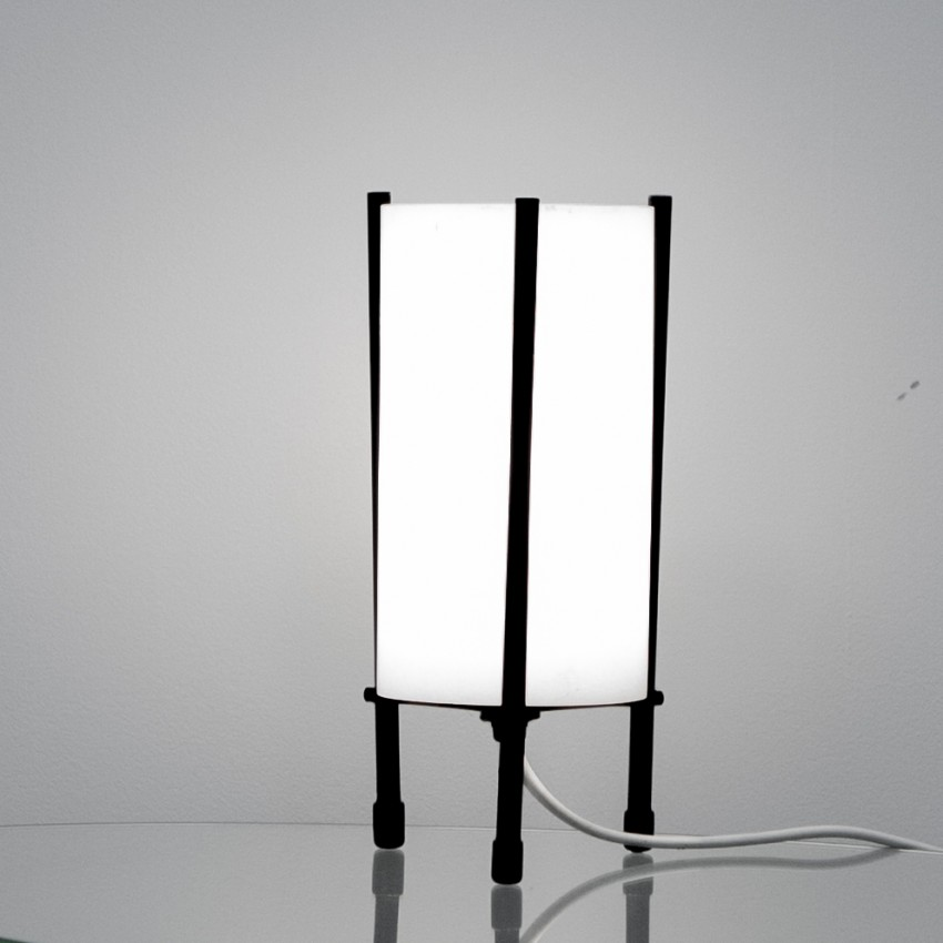 Lampes tripode cylindriques italienne des années 1960