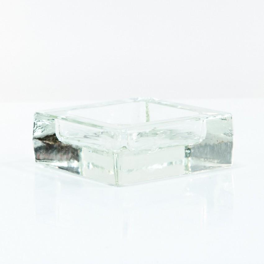 Cendrier carré en verre