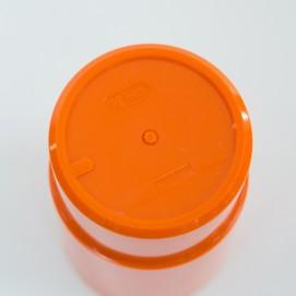 Service à orangeade en plastique orange