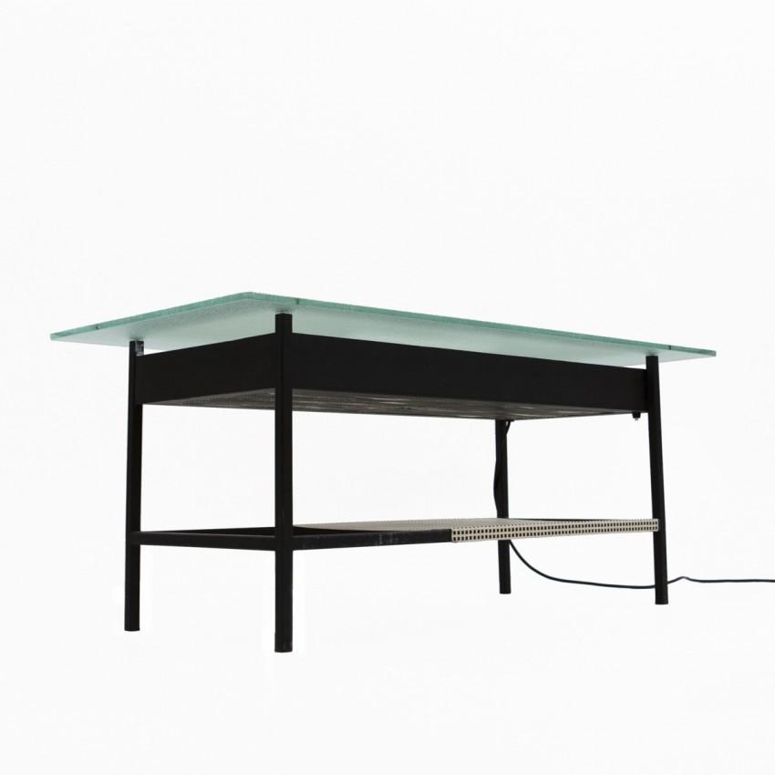 Table basse lumineuse de Robert Mathieu, années 1950