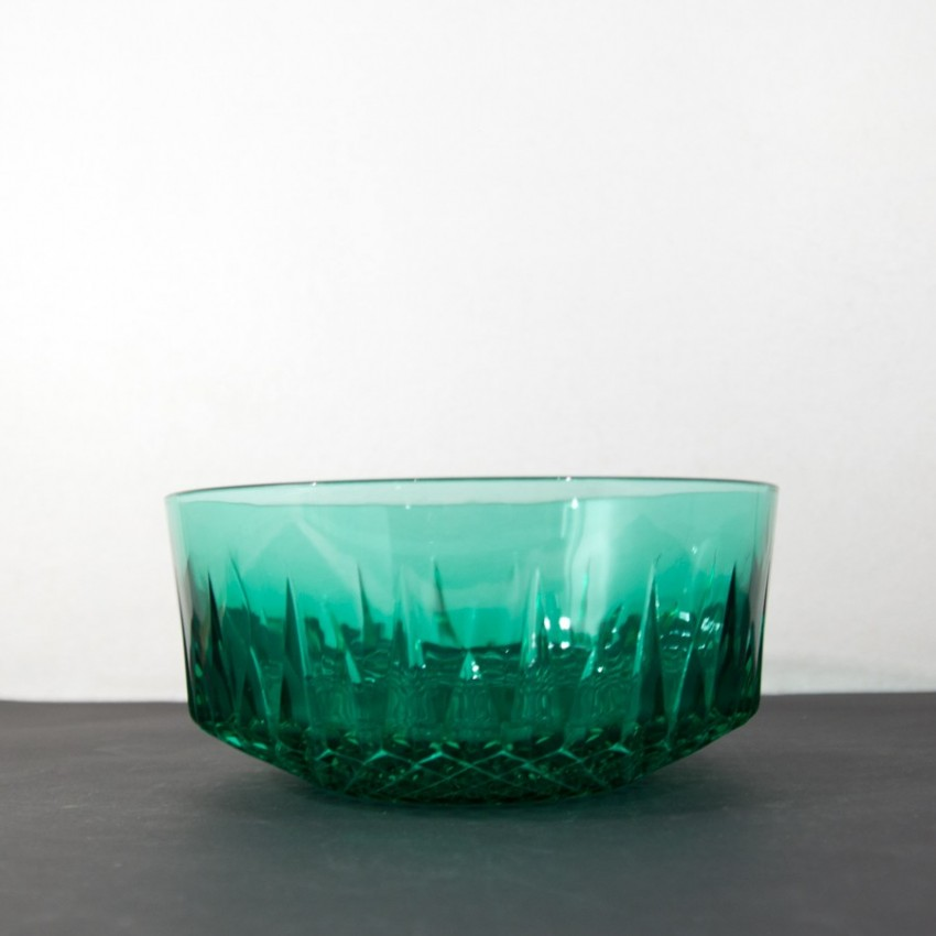 Saladier en verre vert de chez Arcoroc