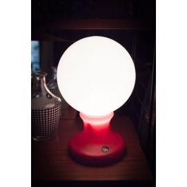 Lampe globulaire à poser en verre