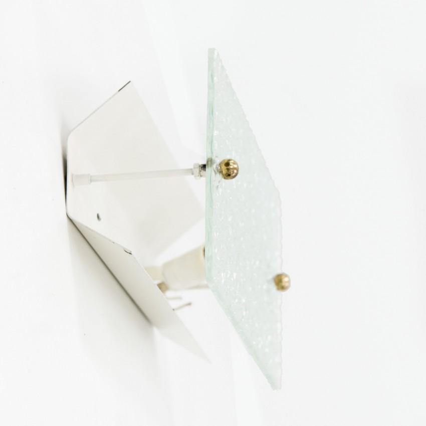 Applique en verre gravé - Marcel Delmas