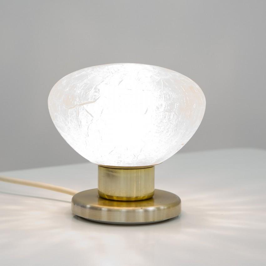 Lampe d'appoint en verre et laiton éditée par Doria