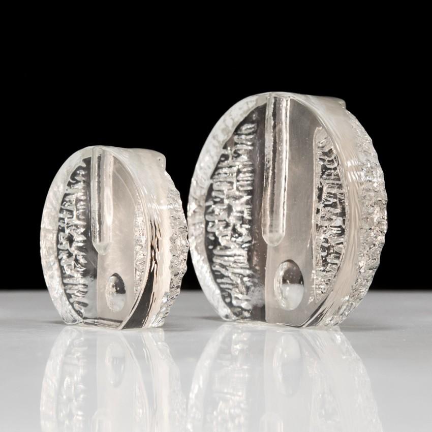 Soliflores en verre d'Heiner Dusterhaus pour la cristallerie Walther Glass.