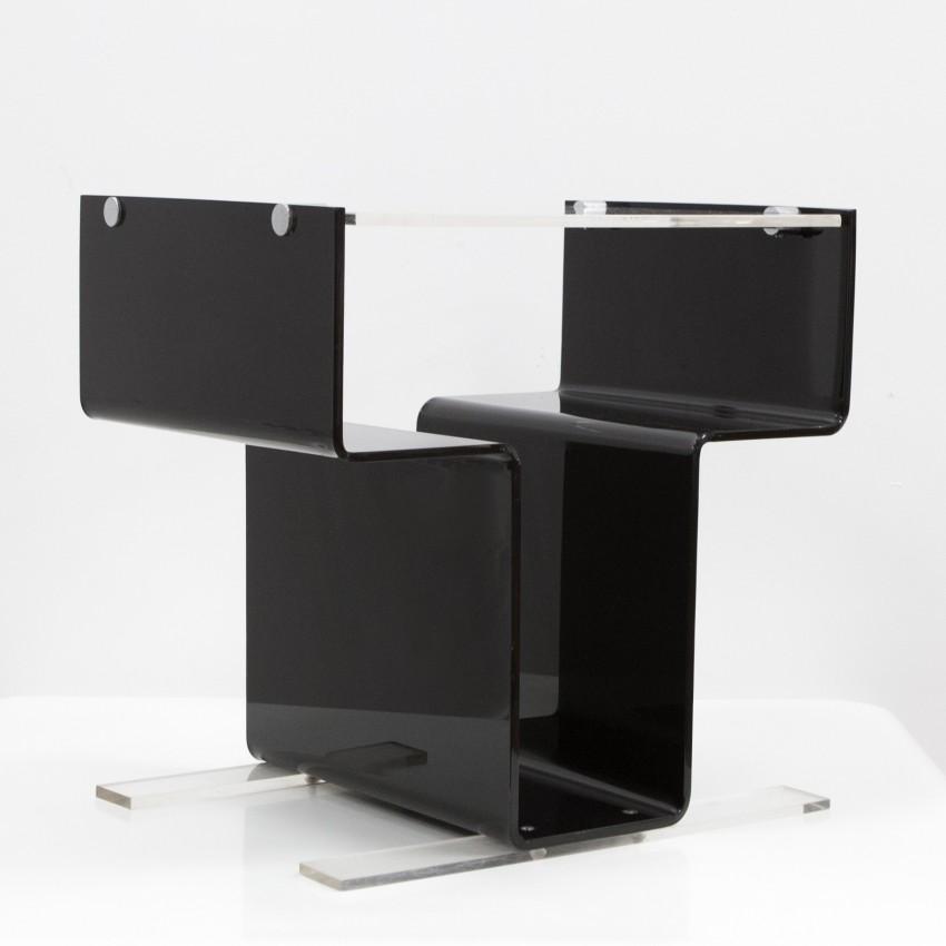meuble pour lectrophone en plexiglas michel dumas. Black Bedroom Furniture Sets. Home Design Ideas