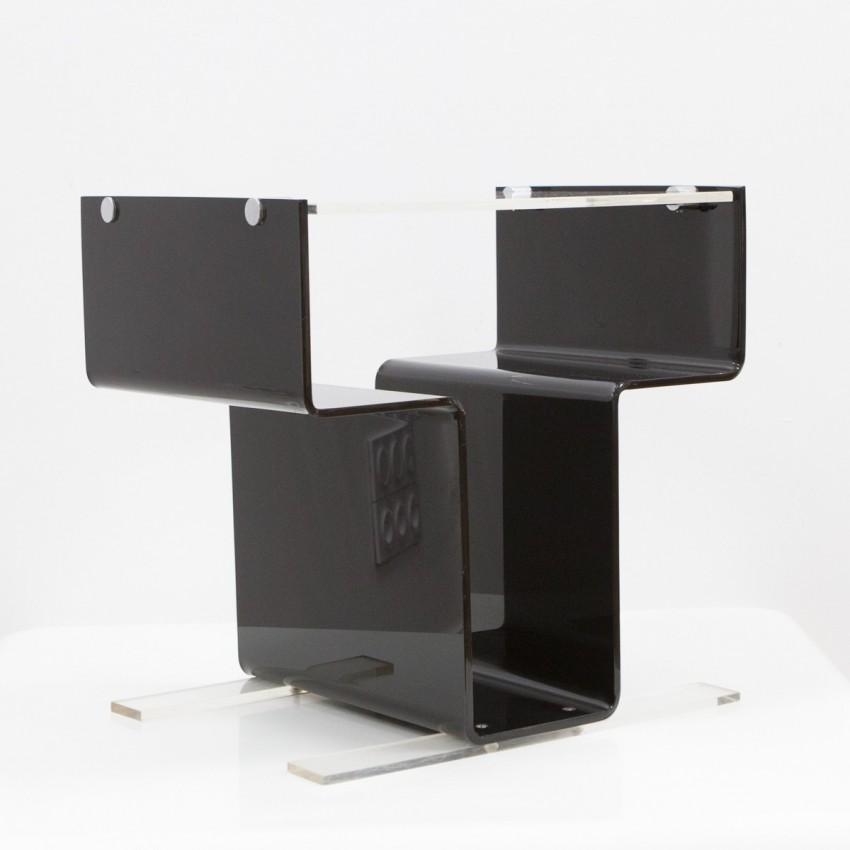 Meuble pour électrophone en Plexiglas