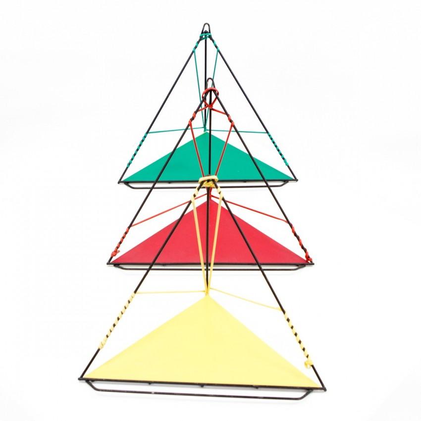 Trio d'étagères d'angle des années 1950