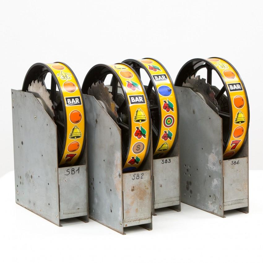Rouleaux d'ancienne machine à sous