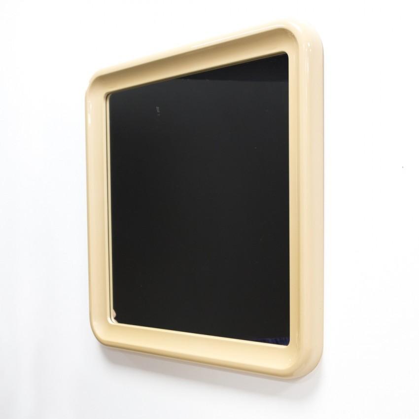 Miroir de salle de bain carré des années 1970