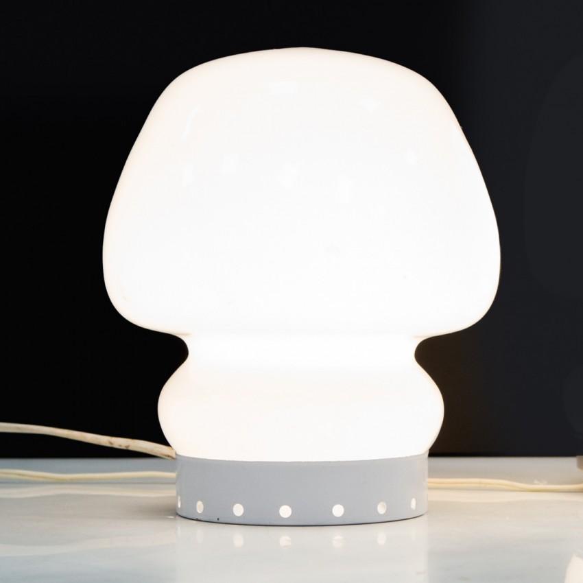 Lampe mobile en verre opale des années 1960