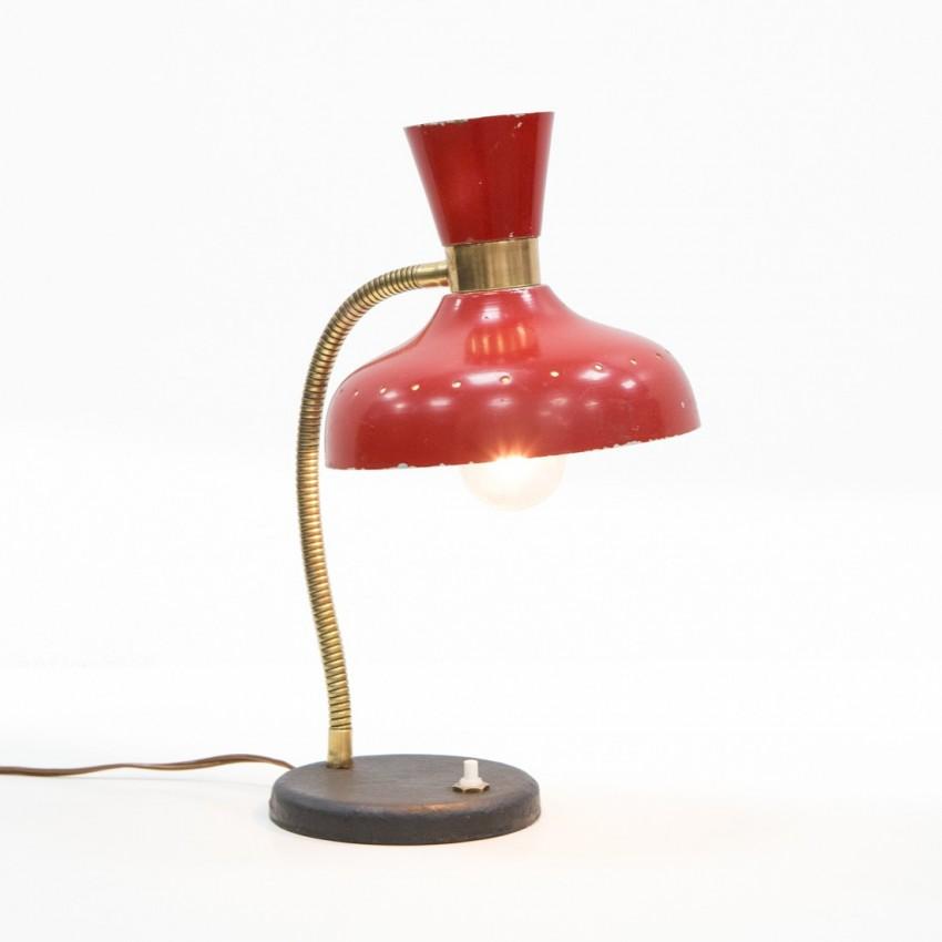 Lampe de bureau diabolo des années 1950