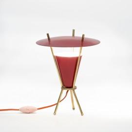 Lampe tripode des années 1950 à double réflecteur