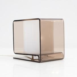 Lampe cubique en Plexiglas fumé