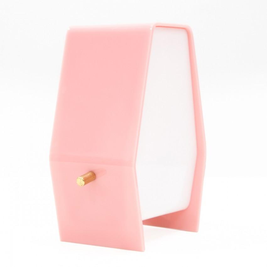 Lampe d'appoint en Plexiglas rose et blanc