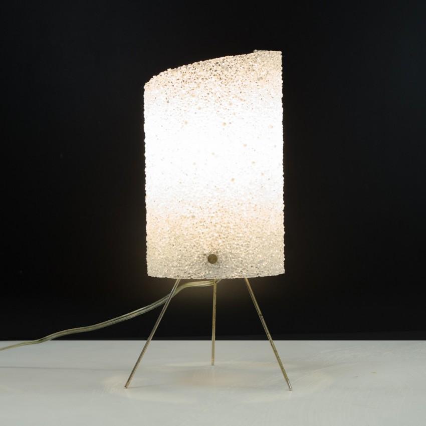 Lampe tripode cylindrique des années 1950