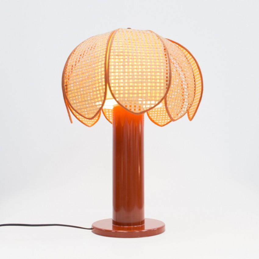 Lampe palmier fibre et résine